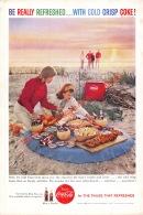 Coca-Cola 1959 Annonce-advert-advertentie - Papier Légère Cartonné 25 X 17 Cm - Advertising Posters