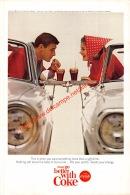 Coca-Cola 1965 Annonce-advert-advertentie - Papier Légère Cartonné 25 X 17 Cm - Advertising Posters