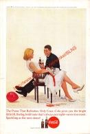 Coca-Cola 1963 Annonce-advert-advertentie - Papier Légère Cartonné 25 X 17 Cm - Affiches Publicitaires