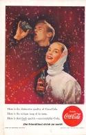 Coca-Cola 1956 Annonce-advert-advertentie - Papier Légère Cartonné 25 X 17 Cm - Advertising Posters