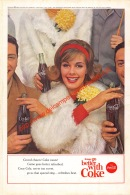 Coca-Cola 1963 Annonce-advert-advertentie - Papier Légère Cartonné 25 X 17 Cm - Advertising Posters