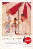 Coca-Cola 1955 Annonce-advert-advertentie - Papier Légère Cartonné 25 X 17 Cm - Poster & Plakate
