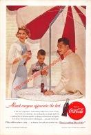 Coca-Cola 1955 Annonce-advert-advertentie - Papier Légère Cartonné 25 X 17 Cm - Affiches Publicitaires