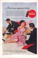 Coca-Cola 1955 Annonce-advert-advertentie - Papier Légère Cartonné 25 X 17 Cm - Advertising Posters