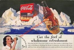 Coca-Cola Annonce-advert-advertentie - Papier Légère Cartonné 25 X 17 Cm - Manifesti Pubblicitari