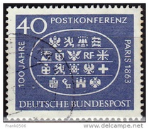 Germany 1963, Int'l. Postal Conference - Paris, 40pf, Sc#863, Used - [7] Federal Republic