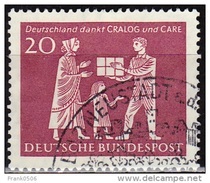 Germany 1963, Mother And Child Receiving Gift, 20pf, Used - [7] Federal Republic