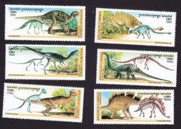 Cambodia, Scott #1924-1929, Mint Hinged, Dinosaurs, Issued 2000 - Cambodge