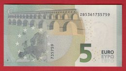 5 EURO BELGIUM - Z005 D1 - DRAGHI  ZB5361735759 - UNC - NEUF - FDS - EURO