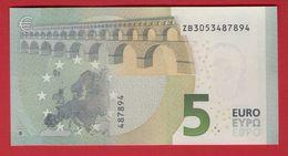 5 EURO BELGIUM - Z004 A3 - DRAGHI  ZB3053487894 - UNC - NEUF - FDS - EURO