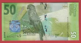 SEYCHELLES 50 RUPEES 2016 P-NEW UNC - Seychelles