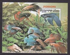 Cambodia, Scott #1951, Mint Hinged, Fish, Issued 2000 - Cambodge