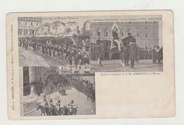 SOLENNI FUNERALI S.M. UMBERTO I A ROMA - CARTOLINA NON VIAGGIATA - POSTCARD - Funerali
