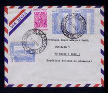 """""""Year Tourisme Americas 72"""" Friendly Ponts Bridges 3x Cover Asuncion ESSEN 1973 Centenary Stamp PARAGUAY Sp4610 - Bridges"""