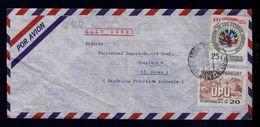 """U.P.U. 1874-1974 Monuments """"panteon De Heroes"""" Cover Flags Drapeaux AMERICANOS States Asuncion ESSEN 1975 PARAGUAY S4612 - Covers"""
