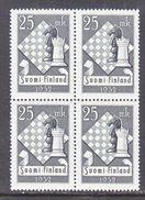 FINLAND  308 X 4    **   CHESS - Finland