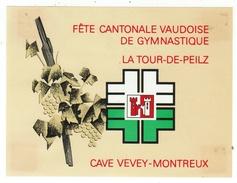 Rare // Fête Cantonale Vaudoise De Gymnastique La Tour-de-Peilz, Cave Vevey-Montreux , Vaud // Suisse - Etiquettes