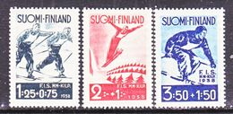 FINLAND  B 31-3    **   1938  SKI  CHAMPIONSHIP - Unused Stamps