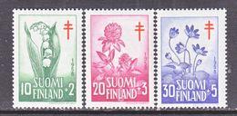 FINLAND  B 148-50    **    ANTI- T.B.  FLOWERS - Finland
