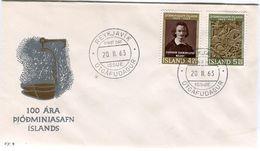 Iceland/Islande/Ijsland/Island FDC 20.II.1963 National Museum Centenary Matching Cover FF-9 - FDC