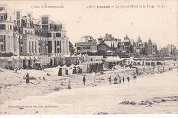 Cp , 35 , PARAMÉ , Le Grand Hôtel Et La Plage - Parame