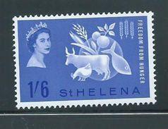 St Helena 1963 Freedom From Hunger Common Issue Single MNH - Saint Helena Island