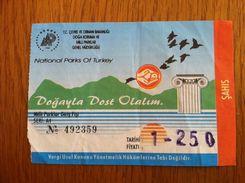 Turkey Ticket National Parks Of Turkey 2008 - Tickets - Entradas