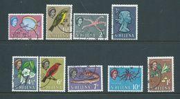 St Helena 1961 Flora & Fauna Definitives Short Set Of 9 To 1/- Gum Wood FU - Saint Helena Island