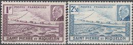 """ST.PIERRE & MIQUELON 213-4 """"Marschall Petain"""" MNH / ** / Postfrisch - Ungebraucht"""