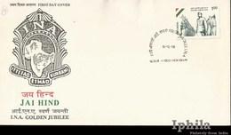 INA 1993    FDC     Netaji Subhas Chandra Bose Azad Hind India Indian Indien Inde Indian National Army - FDC