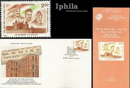 INA Trials 1997 Freedom Fighters FDC Folder  Netaji Subhas Bose Azad Hind India Indien Inde Indian Army Sikhism Sikhs - FDC