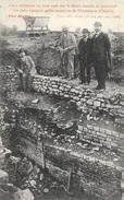 Archéologie: Cave Déblayée En Juin 1906 Sur Le Mont Auxois Montrant Les Trois Epoques Gallo-Romaines D'Alésia - Evénements