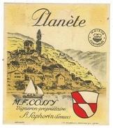 Rare // St.Saphorin, Planète, Maurice Cossy Vaud // Suisse - Etiquettes