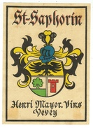 Rare // St.Saphorin, ,Henri Mayor, Vevey, Vaud // Suisse - Etiquettes