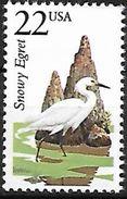 USA 1987 MNH - Snowy Egret (Egretta Thula) F26 - Vogels