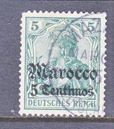 Germany Morocco 34  (o)  Mazagan Type I Cd.   Wmk. - Offices: Morocco