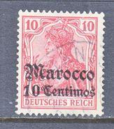 Germany Morocco 35  (o)  Meknes Type I Cd.   Wmk. - Offices: Morocco
