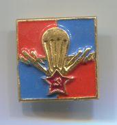 USSR / RUSSIA, PARACHUTTING - PARATROOPER, VINTAGE PIN BADGE, ABZEICHEN - Parachutting