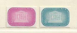NATIONS UNIS - NEW YORK  ( D18 - 4318 )   1956  N° YVERT ET TELLIER  N° 33/34  N* - Ungebraucht