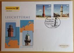 Phare Lighthouse Vuurtoren Leuchttürme Faro ALLEMAGNE GERMANY 2011 FDC - Faros
