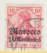 Germany Morocco 35  (o)  Rabat Type I Cd.   Wmk. - Offices: Morocco