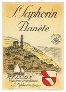 Rare // St.Saphorin Planète,M.Cossy Vaud // Suisse - Etiquettes