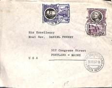 Vatican 1957 Letter To USA, (Postal History) - Vaticano (Ciudad Del)