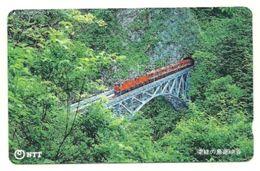 Giappone - Tessera Telefonica Da 105 Units T318 - NTT, - Treni