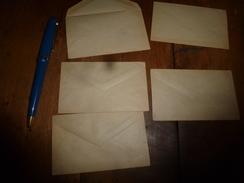 Lot De 5 Petites Enveloppes Gommées Anciennes (vers 1890) Pour Cartes De Visite - Cartes De Visite