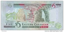 EAST CARIBBEAN STATES P. 47a 5 D 2008 UNC - Caraïbes Orientales