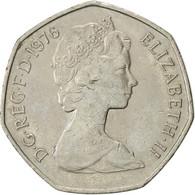 Grande-Bretagne, Elizabeth II, 50 New Pence, 1976, TTB, Copper-nickel, KM:913 - 1971-… : Monnaies Décimales