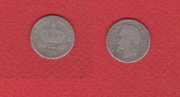 Napoleon III  --  50 Centimes 1865 K  --  état  B - France
