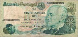 Portugal , 20 Escudos , 4 Outubro 1978 , Gago Coutinho , USED - Portugal