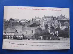 CPA - GRANVILLE - PASSAGE DU TRAMWAY SUR LA PLACE PLEVILLE - Granville